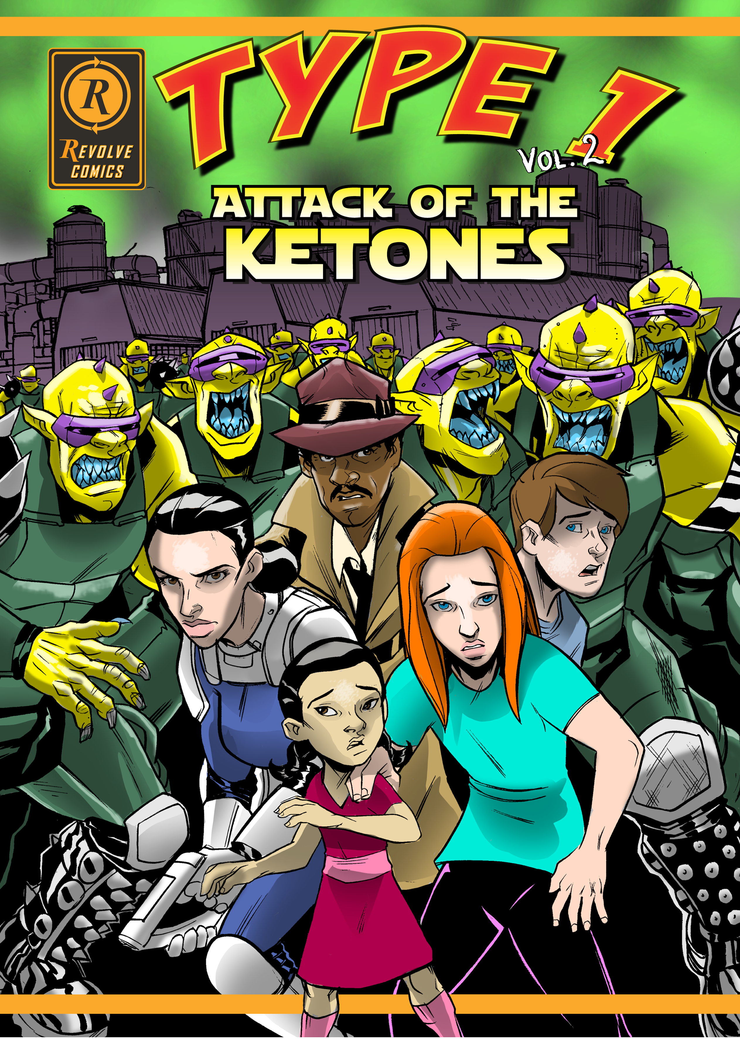 Innovative Comic Cover for to help kids defeat Diabetes.